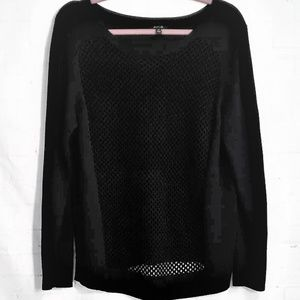 Apt. 9 Sweaters - APT. 9 SEE THROUGH BLACK LONG SLEEVE SWEATER XL